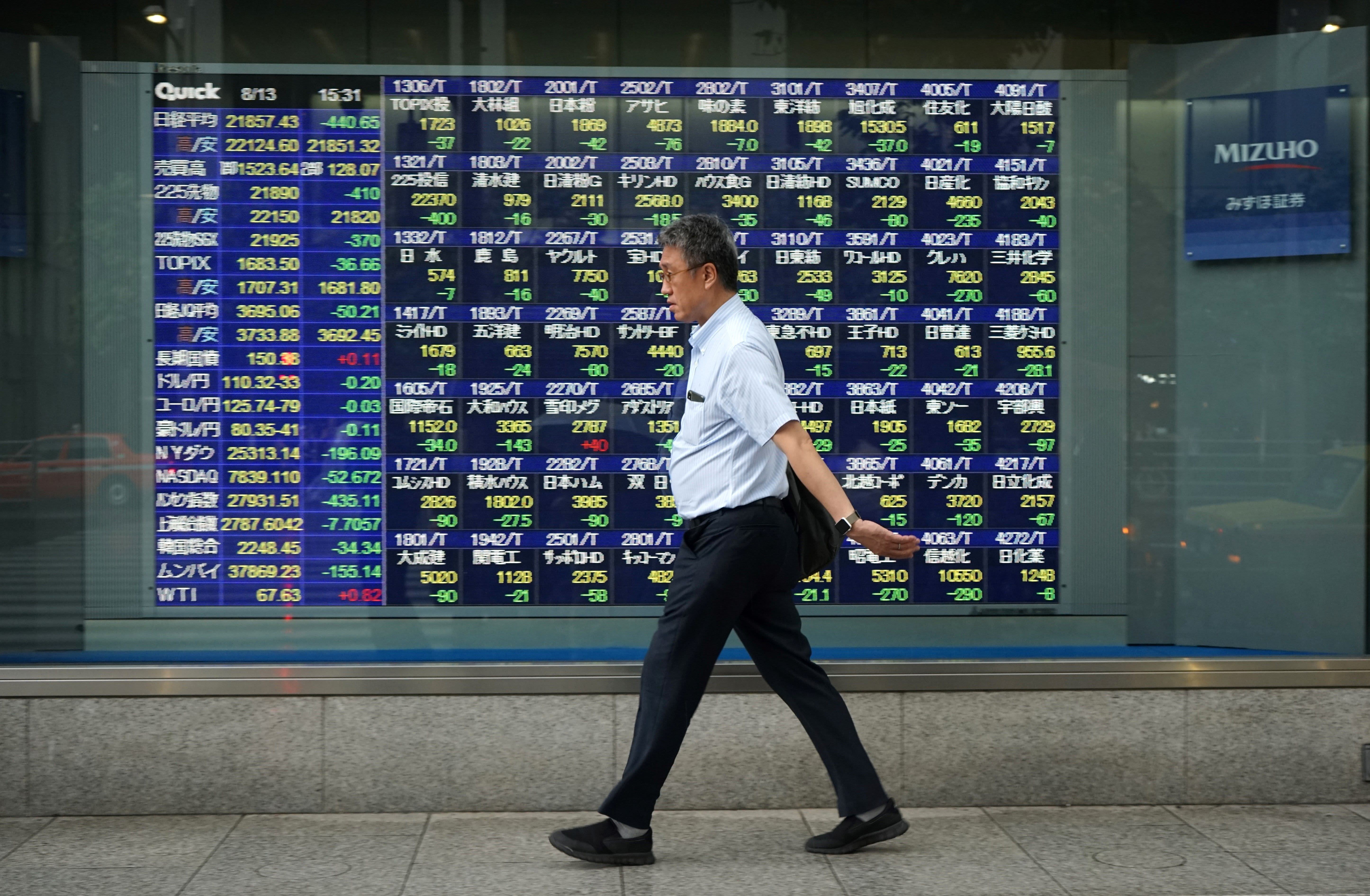 Asia stocks mostly up as investors await Powell's testimony