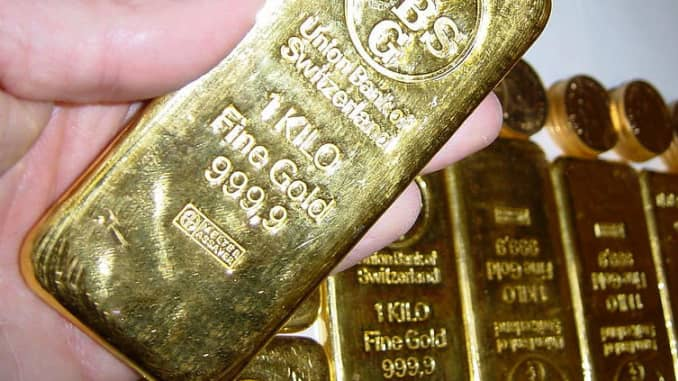 Reusable: Gold bars Union Bank of Switzerland