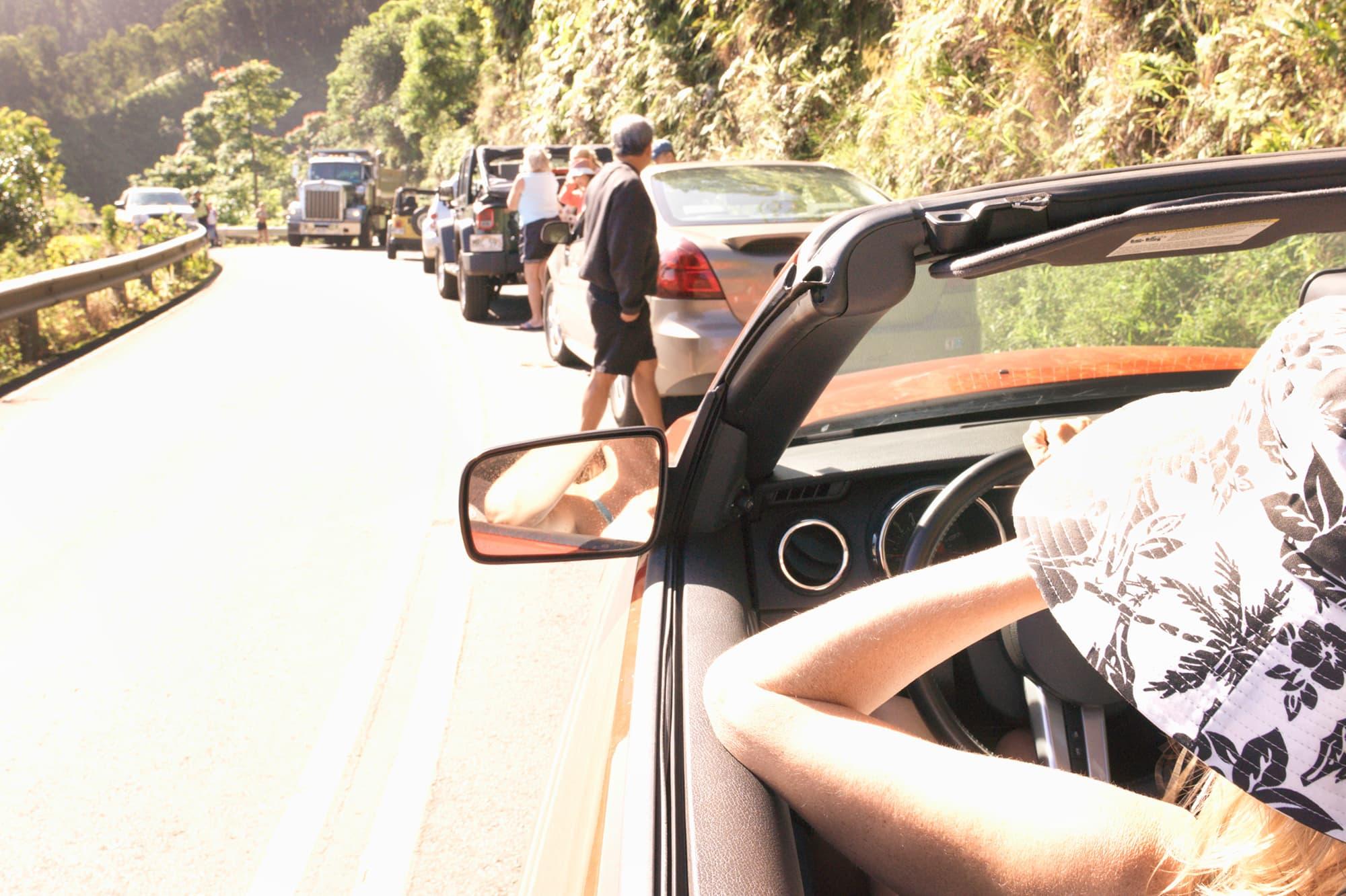 Traffic in Hawaii.