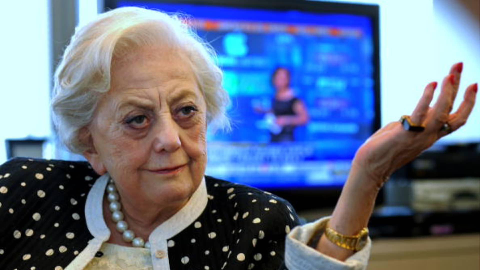 Muriel Siebert, the first woman to ever hold a seat on the New York Stock Exchange.