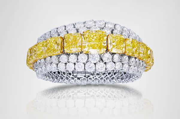Graf Yellow and White Diamond Bracelet
