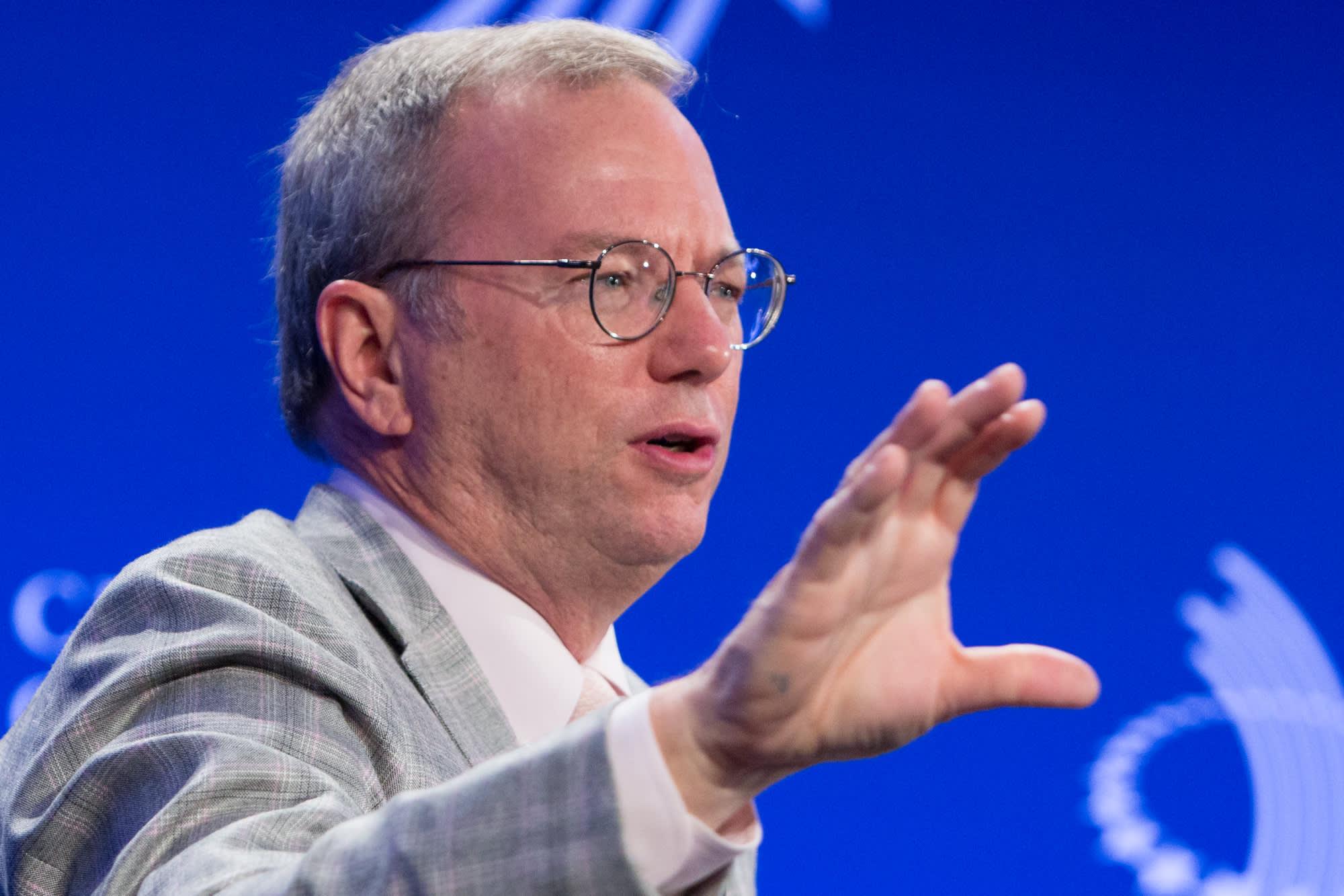 Former Google CEO Eric Schmidt believes biology is the next frontier in computing