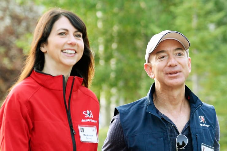 Reusable: Jeff Bezos, CEO Amazon.com, and his wife Mackenzie Bezos.