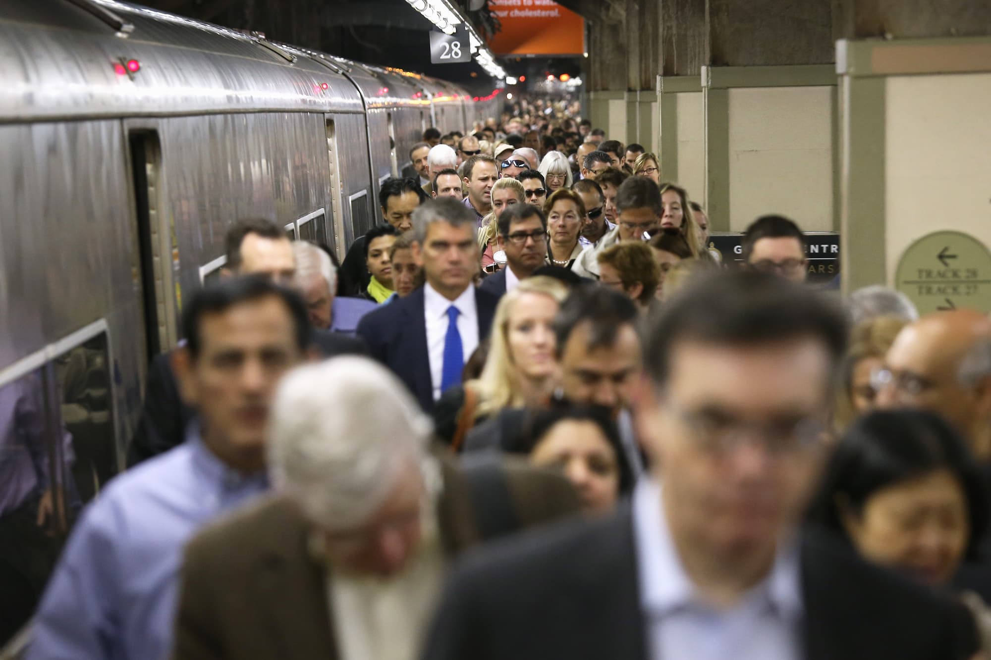 Commuters arriving at Grand Central Terminal