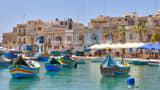 The fishing port of Marsaxlokk, Malta.