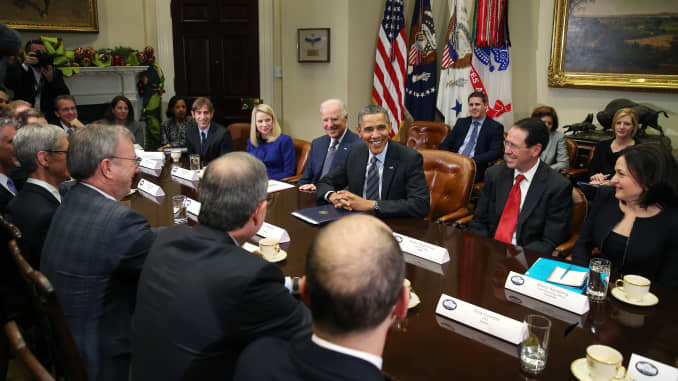 Reusable: Whitehouse Obama meets with Tech CEOs 20131217