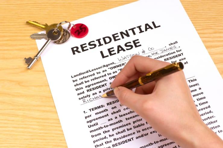 Premium: Signing residential lease rental rent