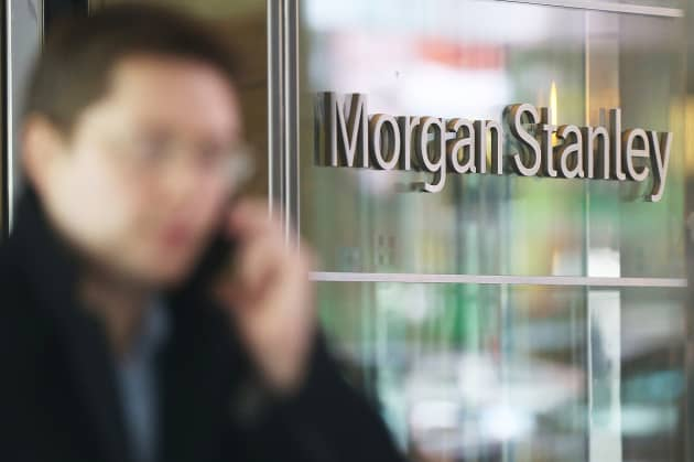 Morgan Stanley posts earnings of 50 cents a share vs  45 cents estimate