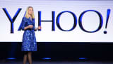 Yahoo President and CEO Marissa Mayer delivers a keynote address at the 2014 International CES in Las Vegas, Jan. 7, 2014.