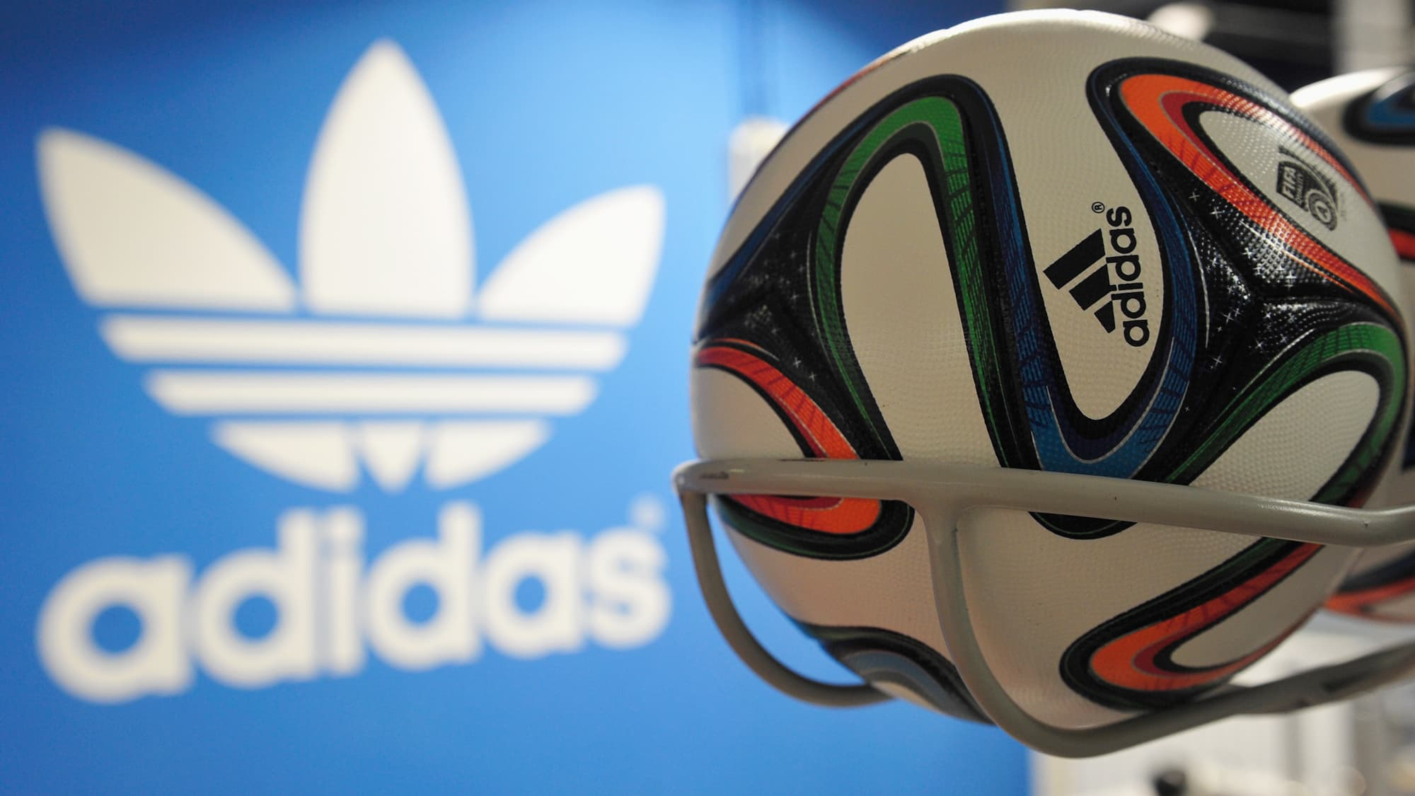 newest c6b01 bd890 Adidas shares plunge 13% after Russia warning