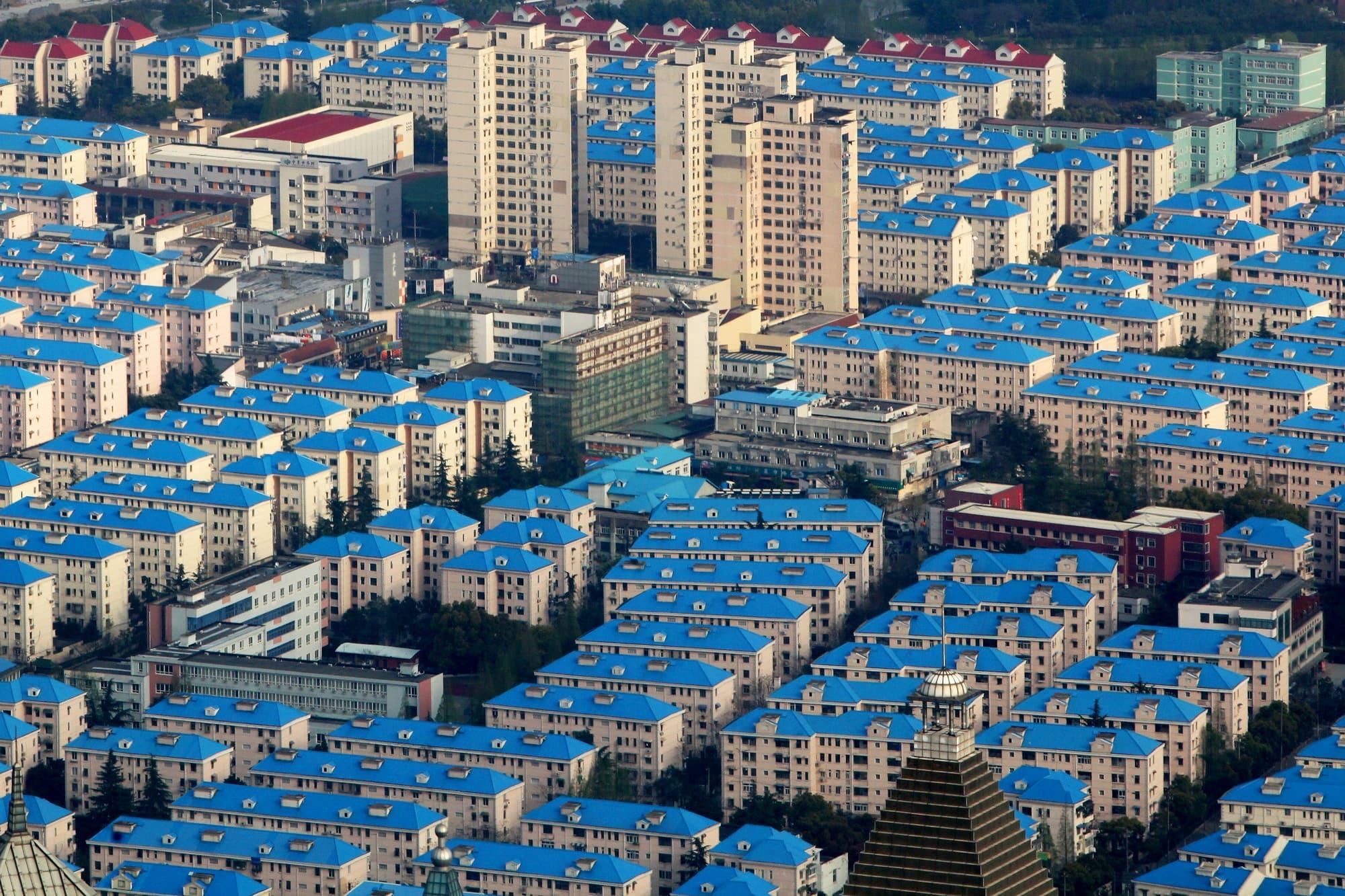 Cityscape of Shanghai, China.