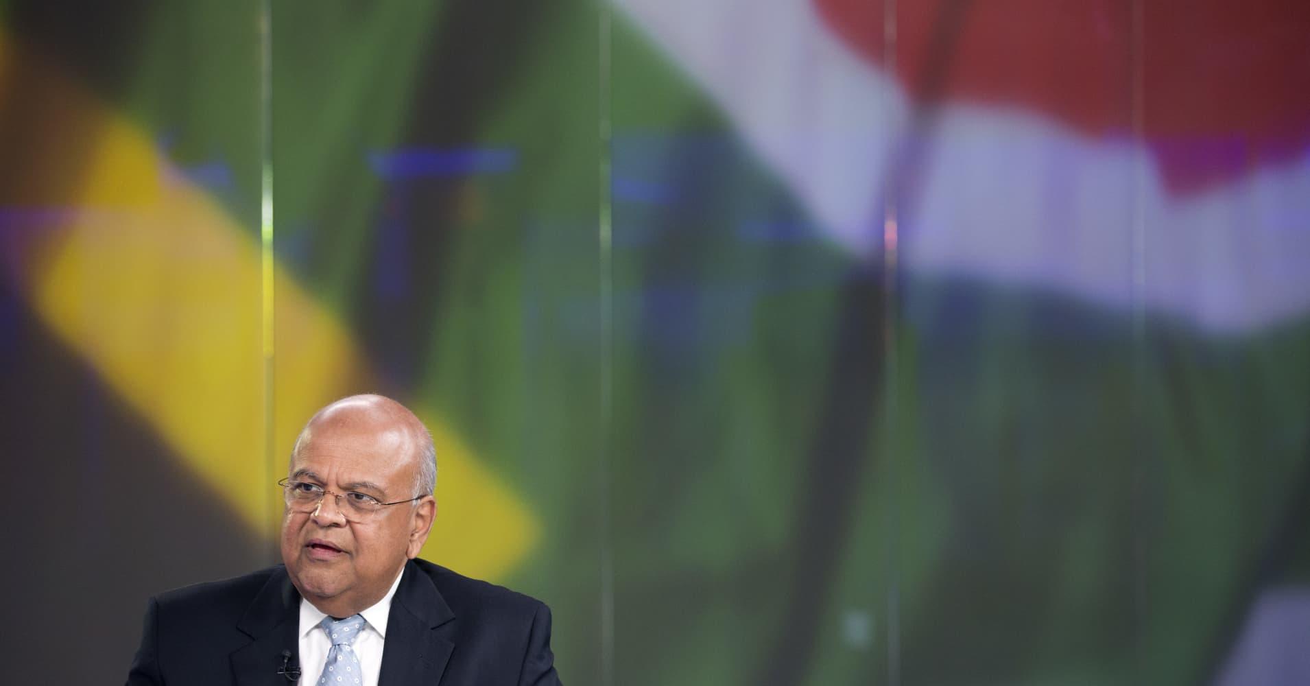 South African Finance Minister Pravin Gordhan