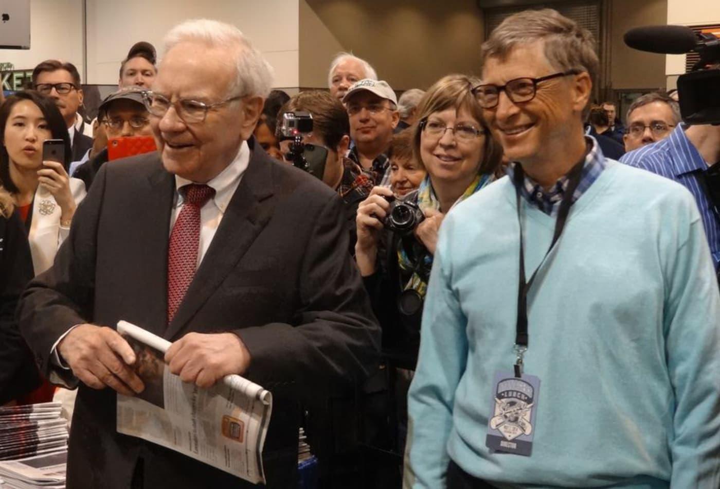 Warren Buffett, Bill Gates have similar ideas on how much