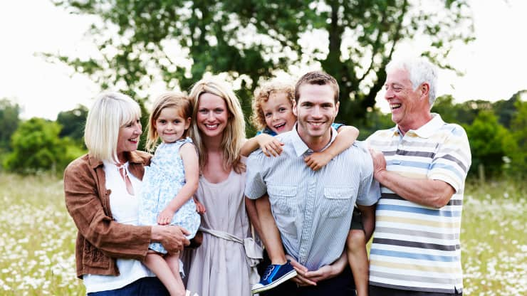 Premium: multigenerational family photo