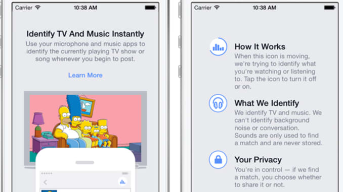 Facebook launches Shazam-style 'audio recognition' for music