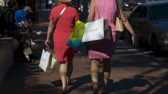 GP: Chico's shoppers consumer spending elderly women