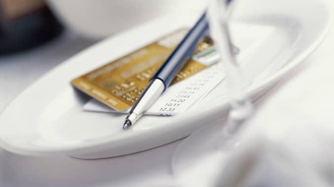 Premium: Restaurant bill credit card pen