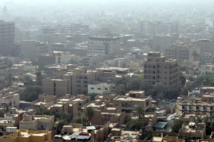 Reusable Baghdad skyline