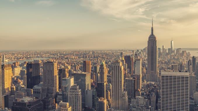 Premium; New York City skyline