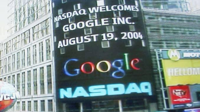 Reusable: Google IPO Nasdaq opening 20040818