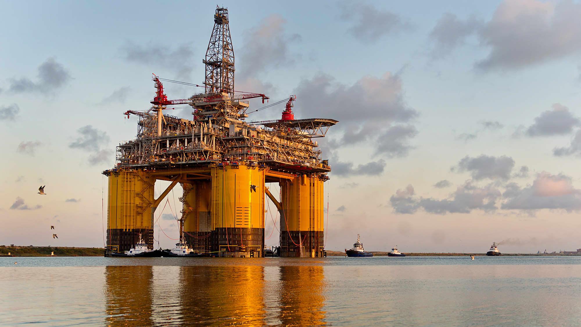A Royal Dutch Shell platform