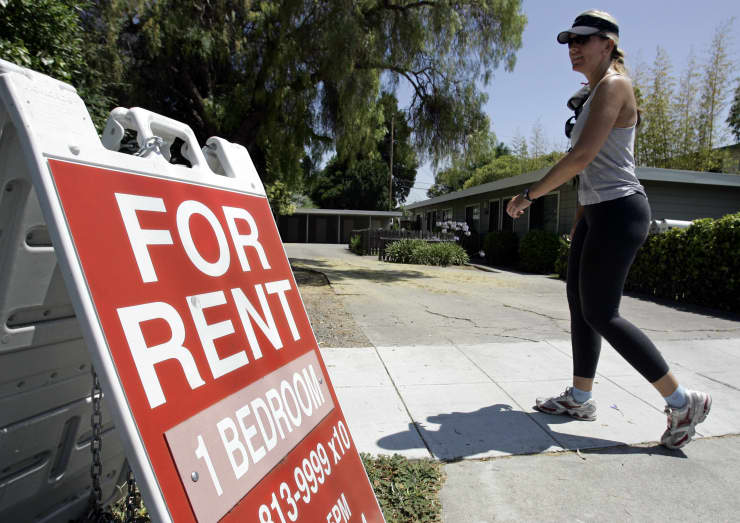 AP: For rent sign, apartment rental, house rent