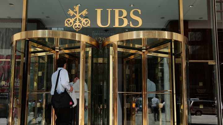 UBS reports best second-quarter in nine years but warns against 'sharp drop' in interest rates