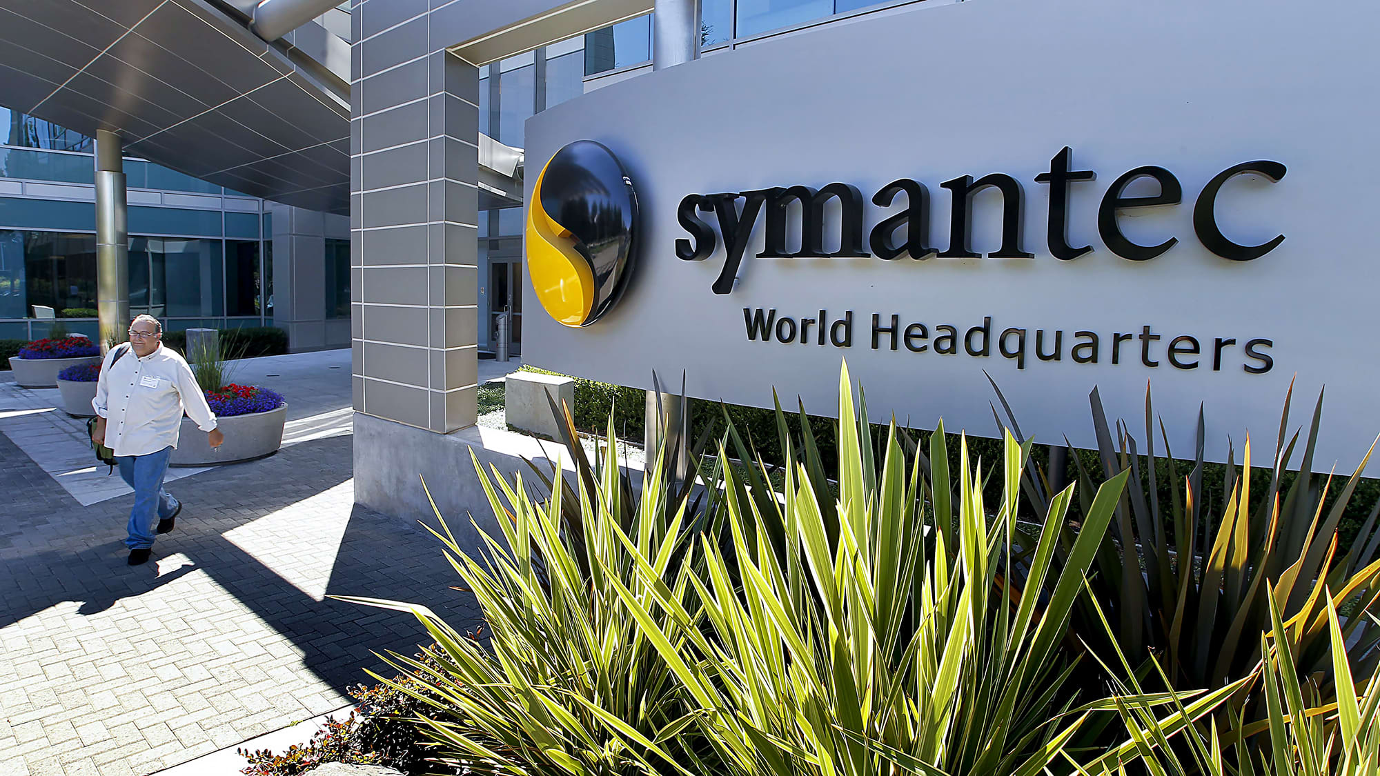 Symantec shares soar on report that Broadcom is in talks to acquire the security software maker