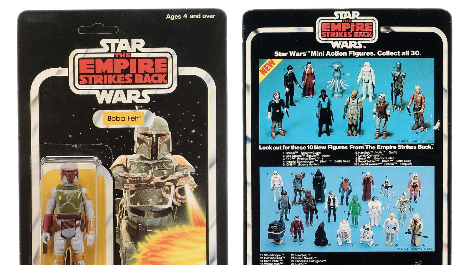 Star Wars Boba Fett Figure Sold For 27k