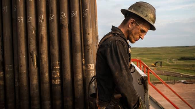 GS: Oil worker Watford City North Dakota downbeat