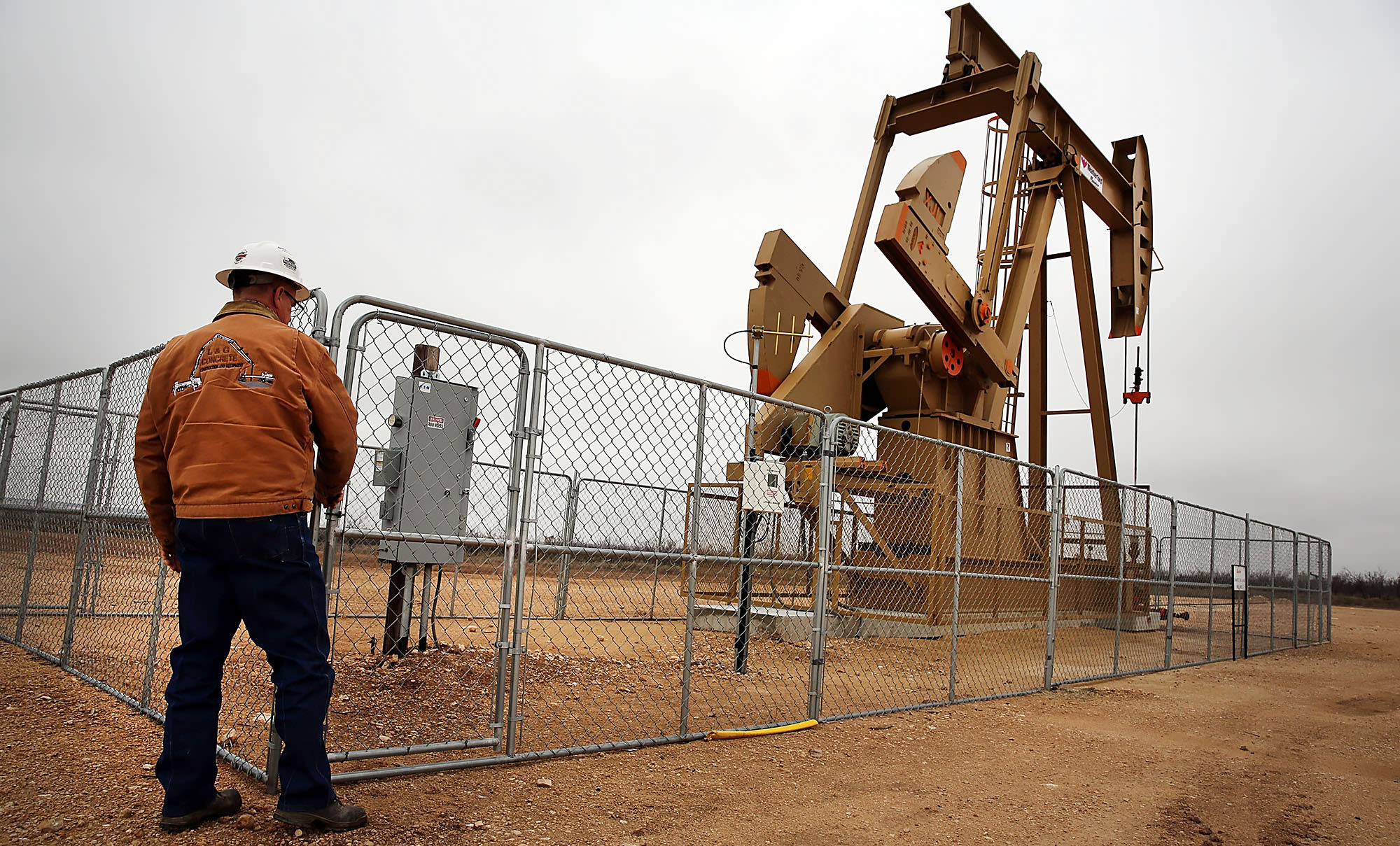 Reusable: Oil well pump jack Permian Basin Texas