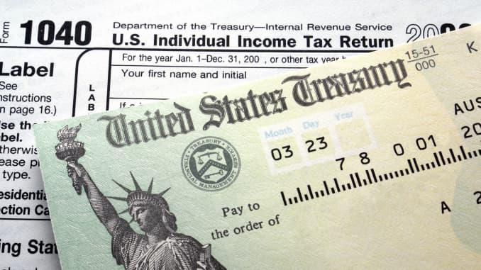 GP: Income tax refund, Treasury check, 1040 form