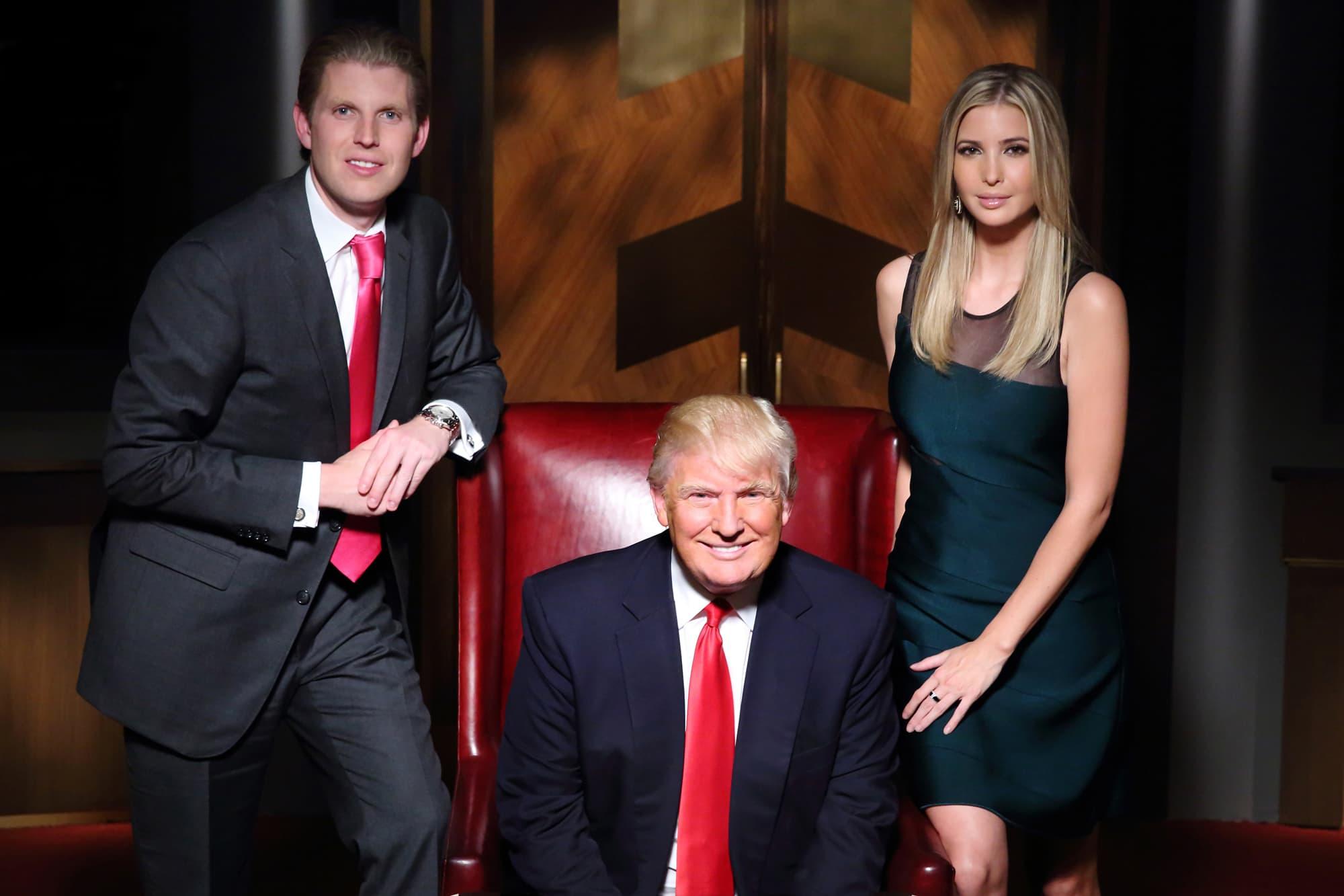 Donald Trump Jr., Donald Trump, Ivanka Trump on Celebrity Apprentice