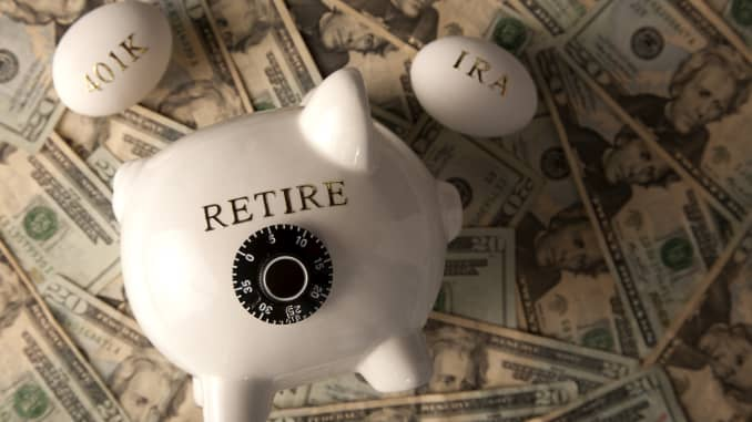Premium: retirement savings 401K Roth IRA piggy bank money