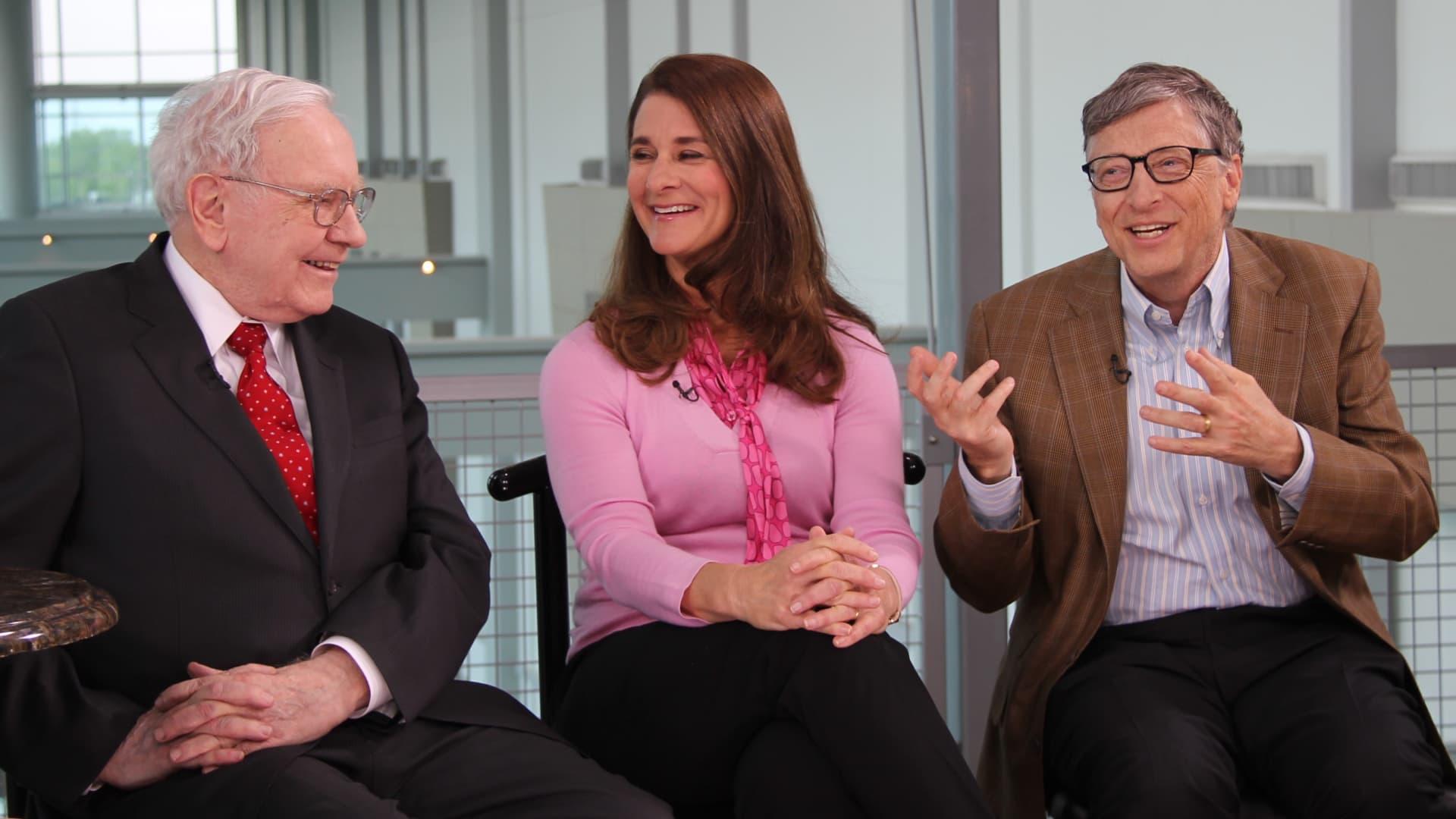 Warren Buffett, Melinda and Bill Gates discuss philanthropy.