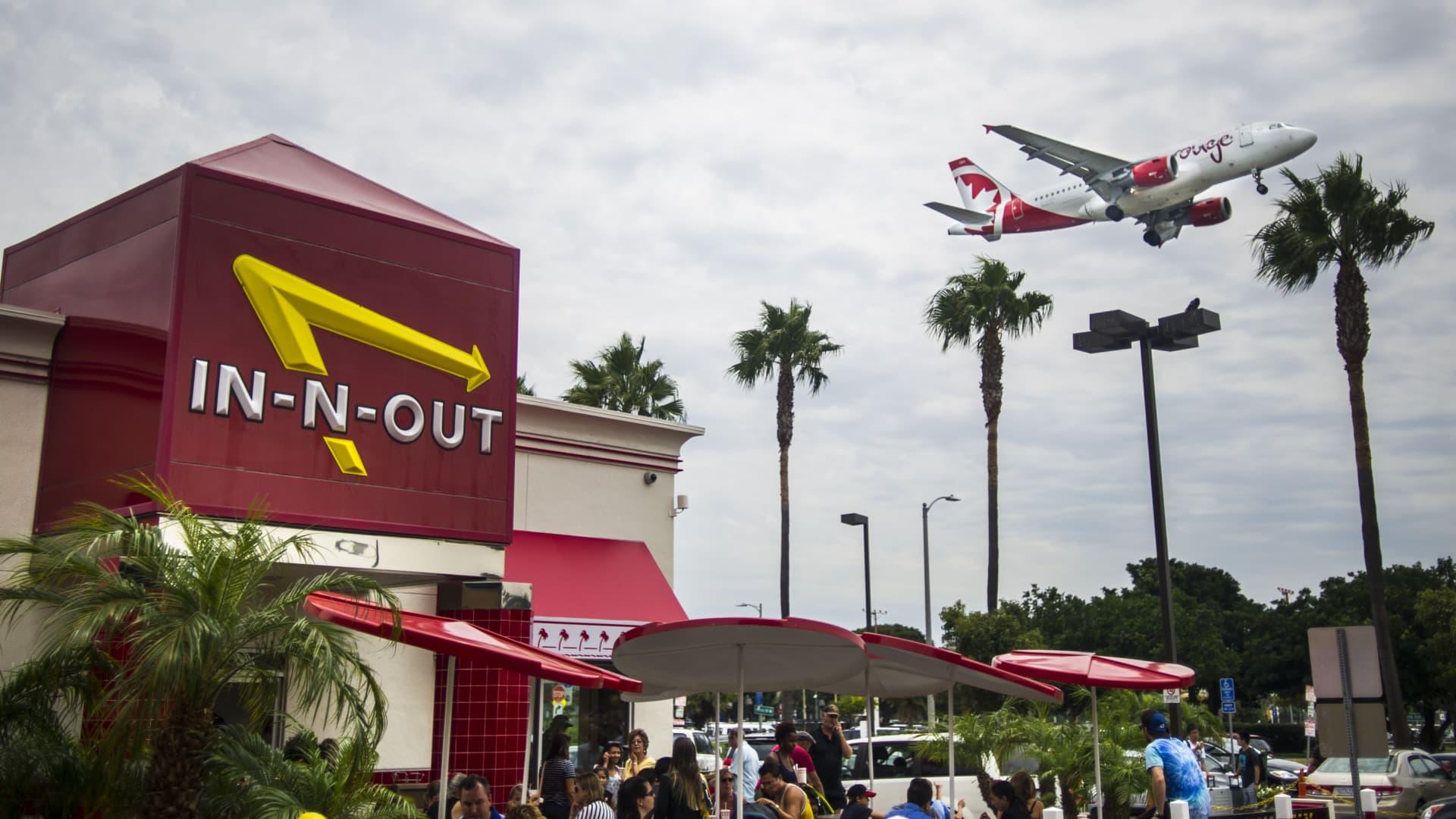 In-N-Out Burger restaurant Sepulveda Boulevard in Los Angeles.