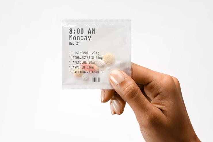 Reusable: PillPack packet