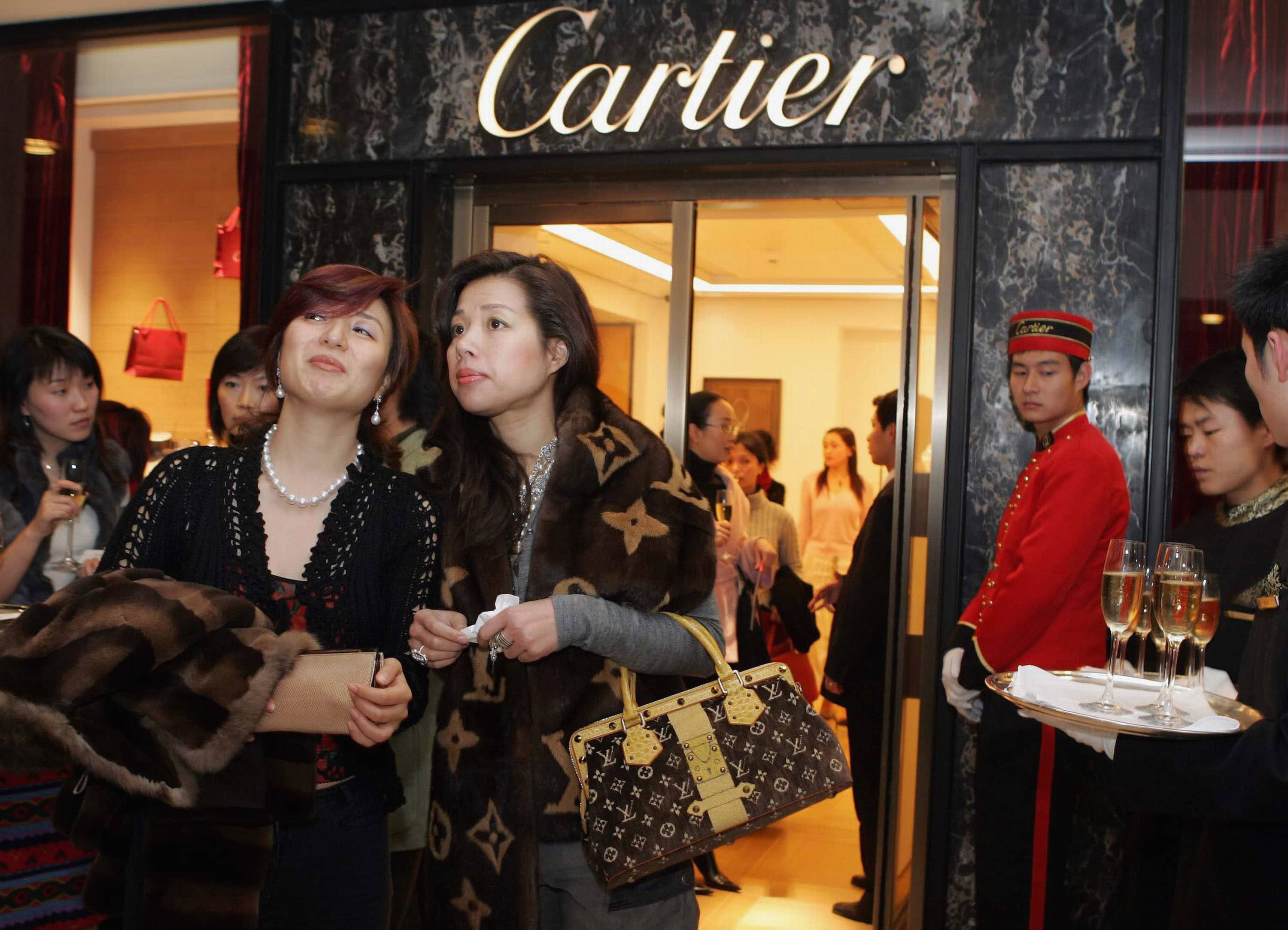 Cartier flagship store in Shanghai, China.