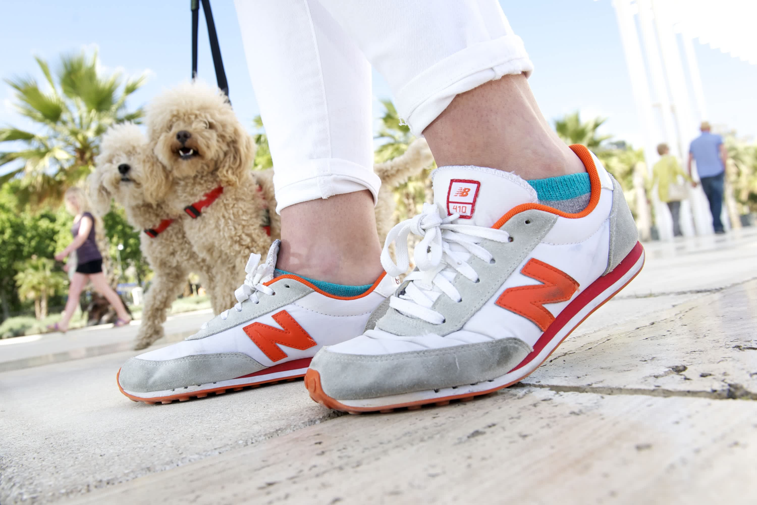 New Balance trainers.