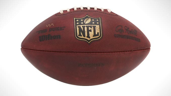 new products 63aef afef3 Tom Brady's 'Deflategate' footballs now on sale
