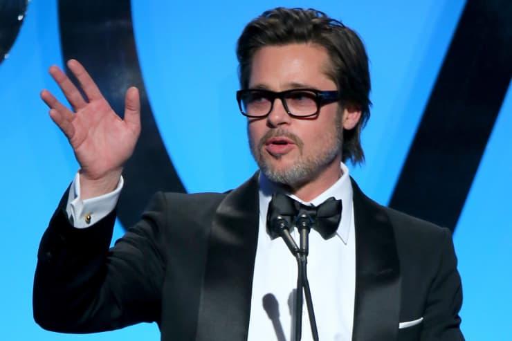 Reusable: Brad Pitt speaking at award ceremony