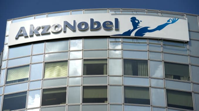 Akzo Nobel fourth-quarter earnings beat expectations