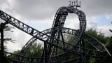 """The Smiler"" rollercoaster, at Alton Towers Resort, U.K."