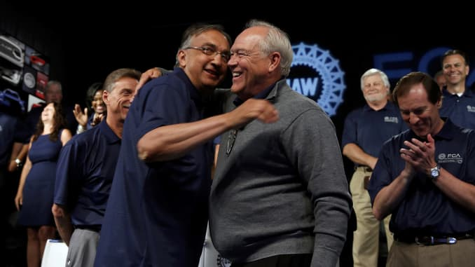 Premium: Sergio Marchionne, CEO of Fiat Chrysler  Dennis Williams, president of UAW 150714