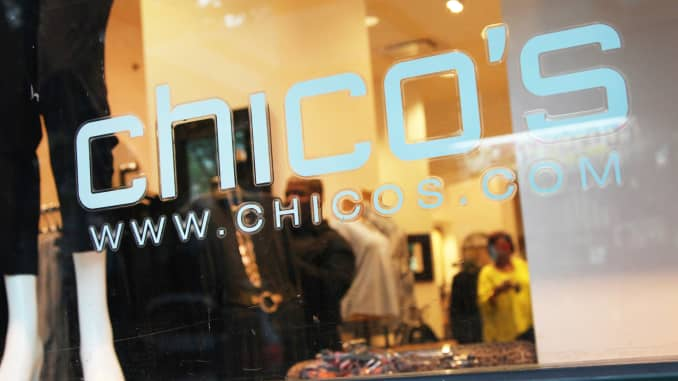 CNBC: Chico's Chicos store 150914