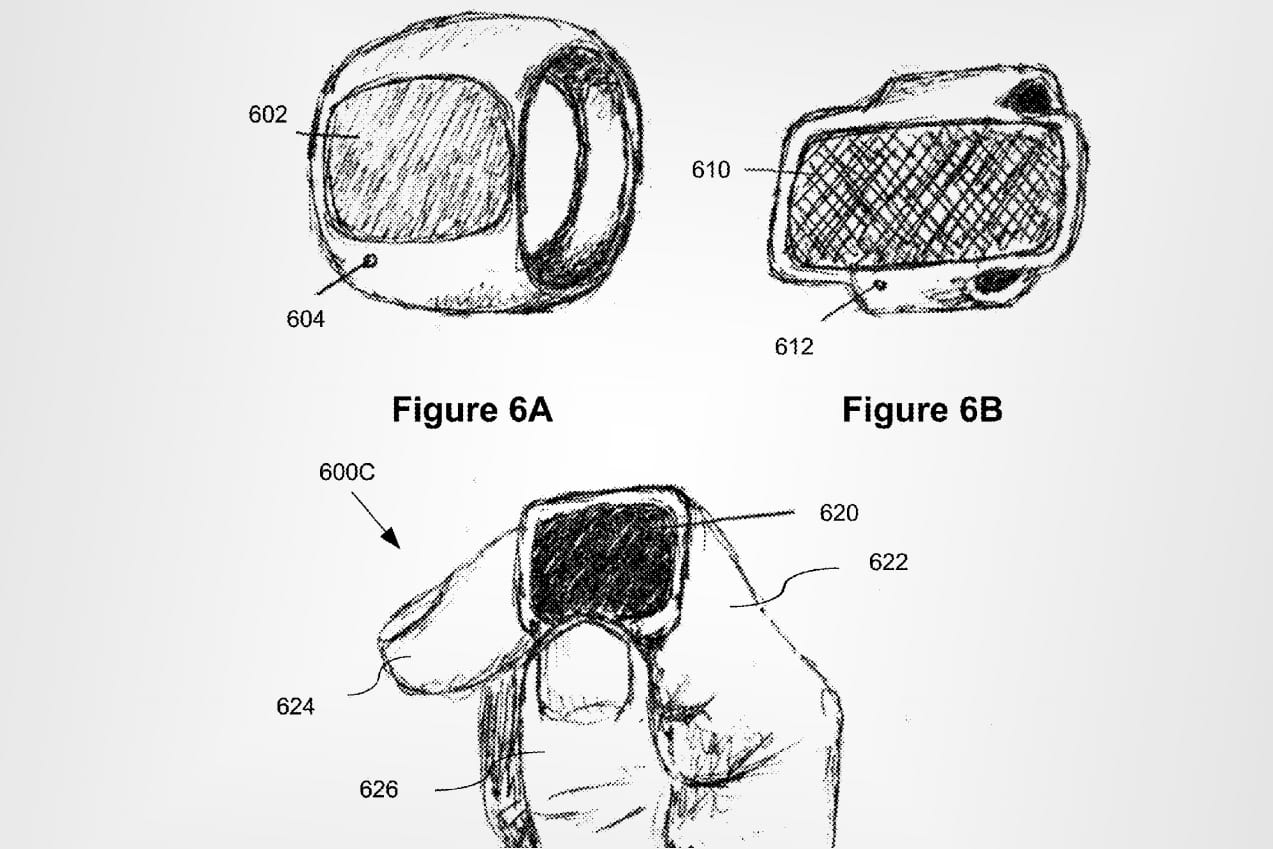 Rendering of a proposed Apple smart ring from a patent application recently published by the U.S. Patent & Trademark Office.