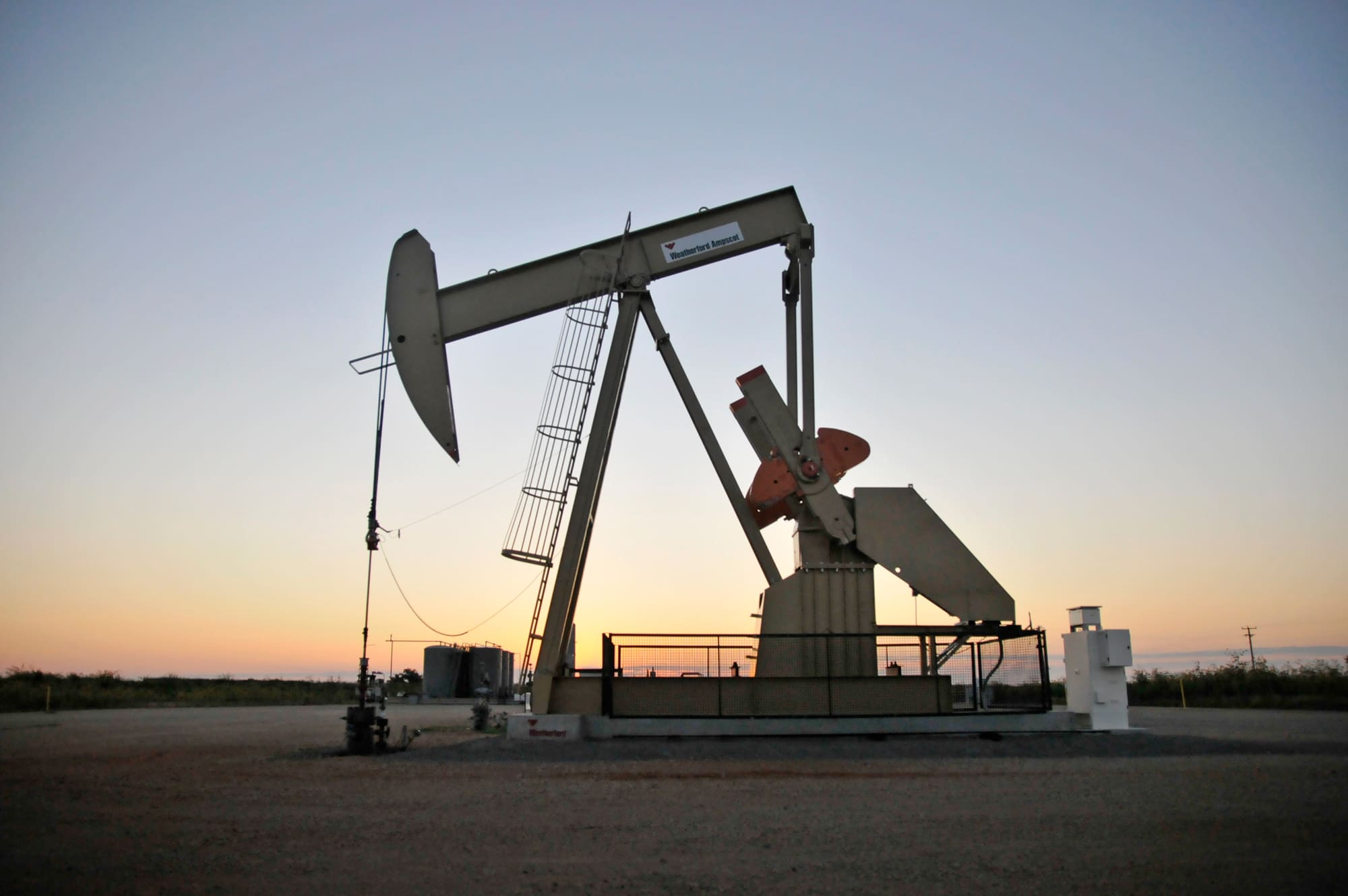 Reusable: Oil pump jack leased by Devon Energy 150922