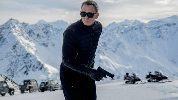 James Bond wears Tom Ford's knitted sleeve bomber jacket