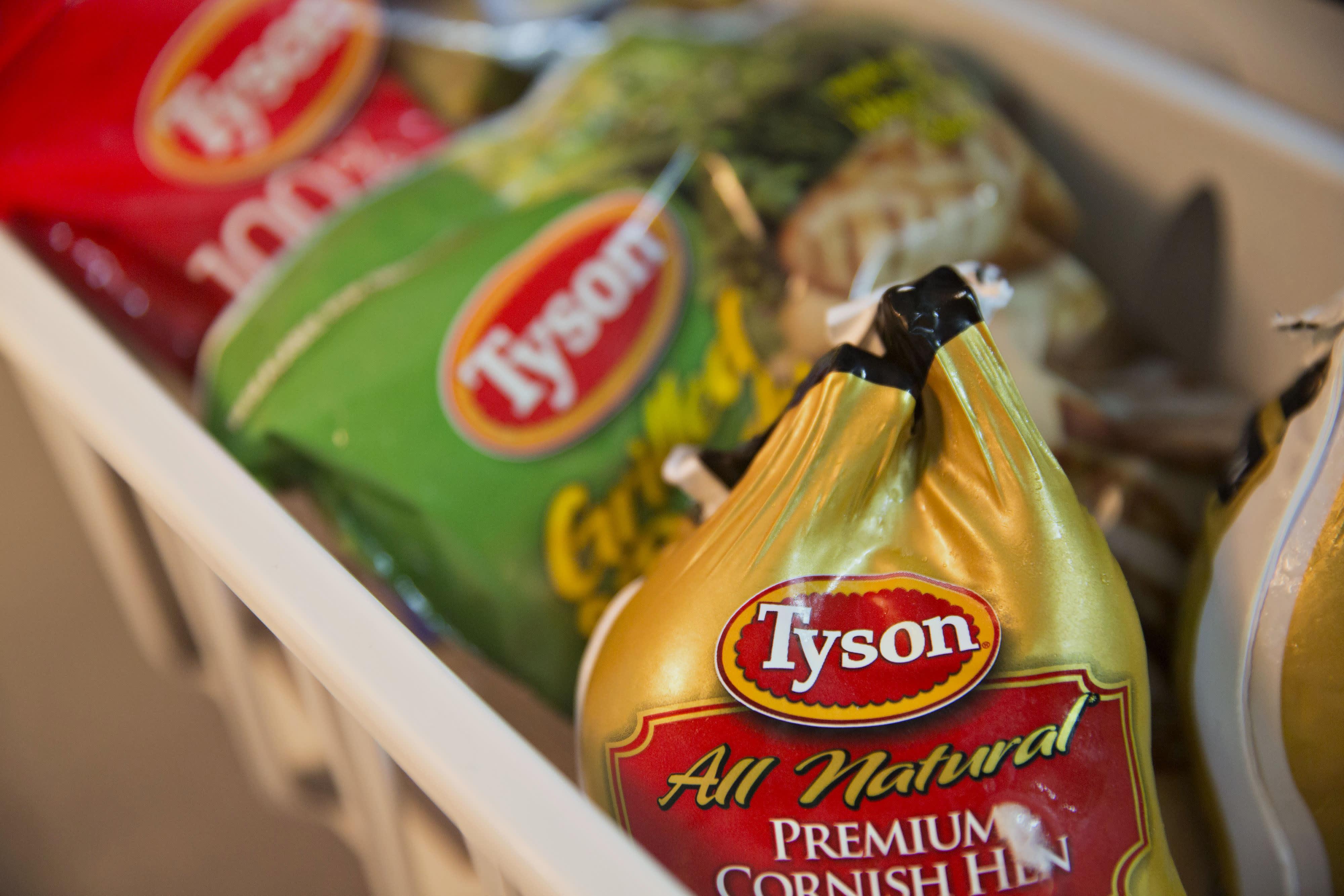 Tyson Foods' frozen chicken products.