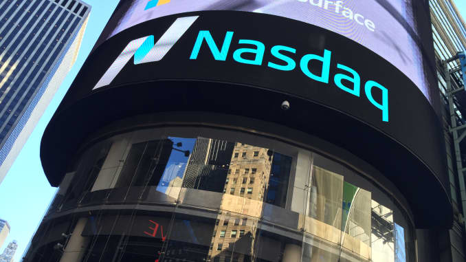 Nasdaq di Times Square, New York.